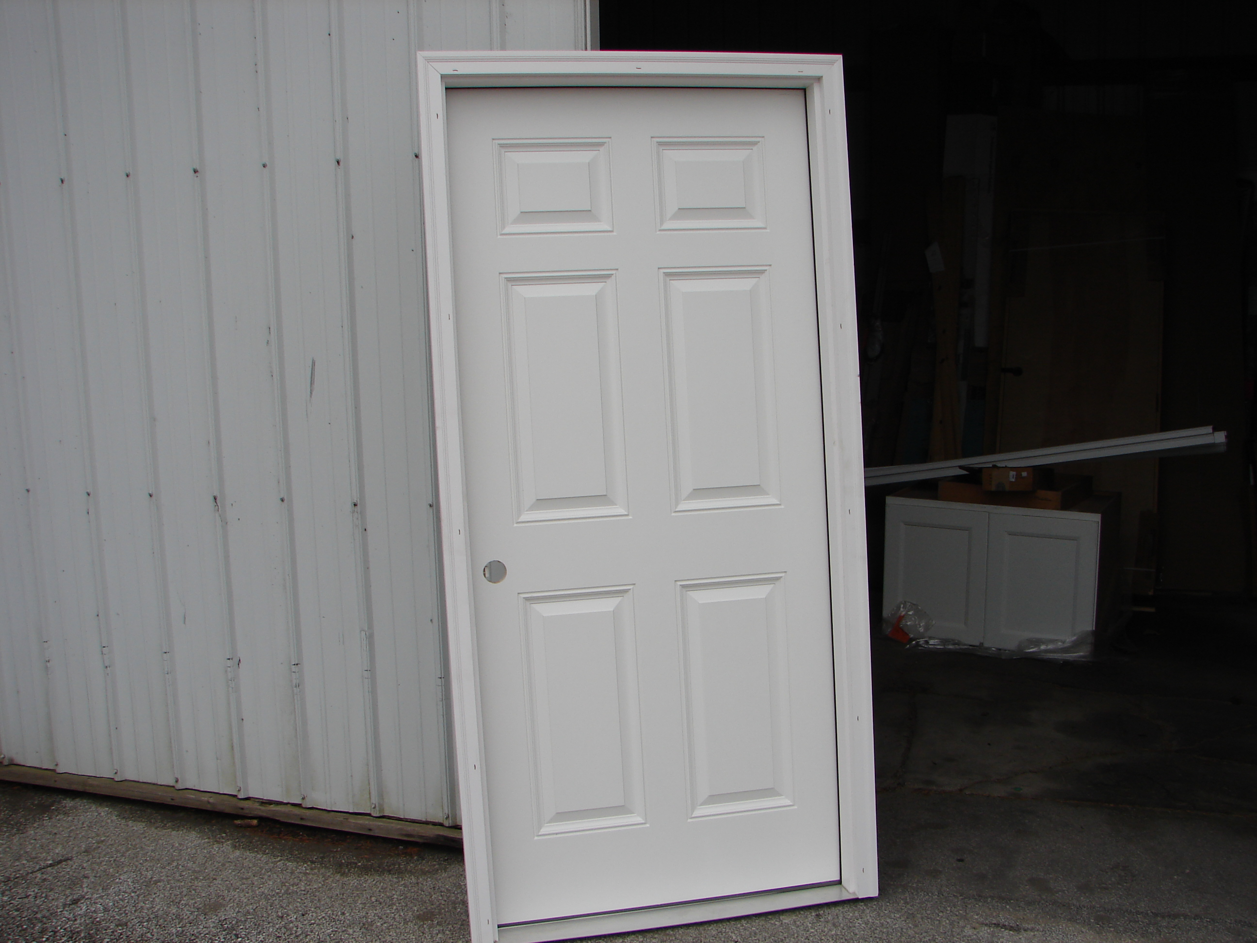 6 panel Smooth Fiberglass Entry Door